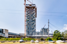 MARINA TOWER: Vienna's most spectacular residential tower celebrates its topping out