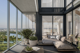 Luxury above the rooftops of Vienna: sales launch for penthouse apartments in MARINA TOWER